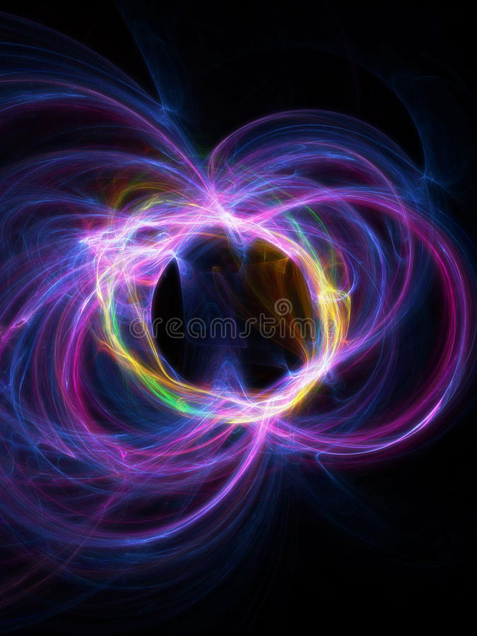 Particles collision stock illustration