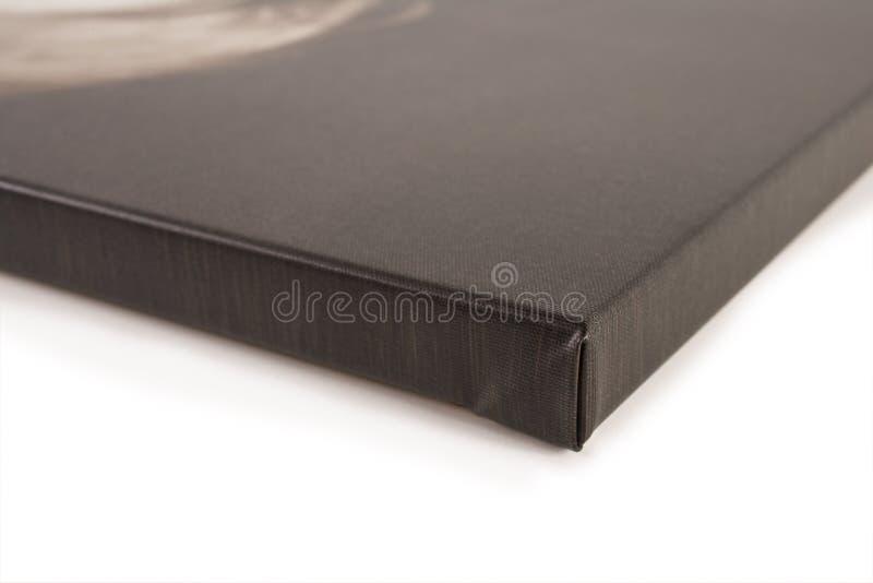 Particolare allungato della tela di canapa fotografie stock
