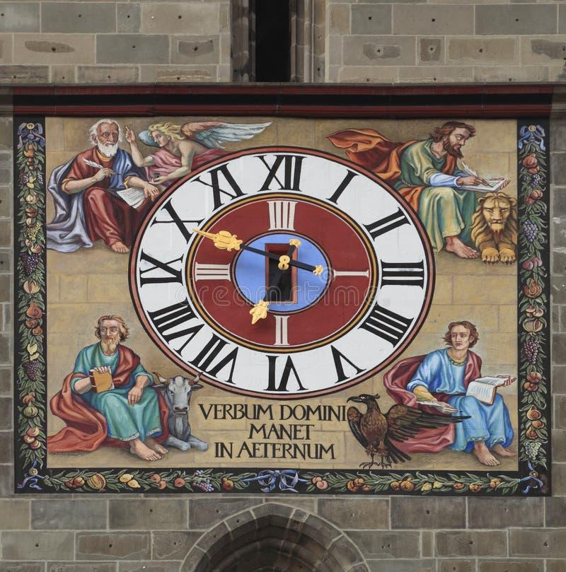 Particolare antico dell'orologio immagini stock libere da diritti