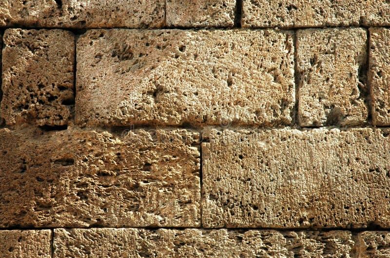 Particolare antico della parete della fortezza fotografie stock