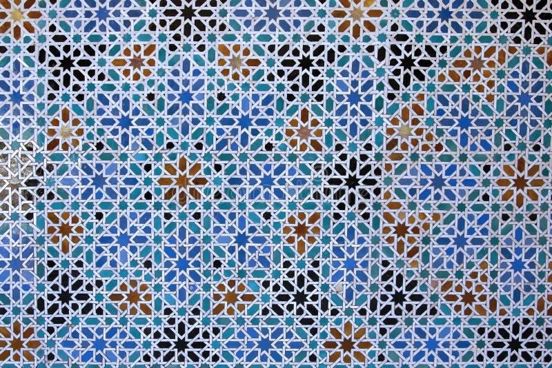 Particolare arabo delle mattonelle immagine stock