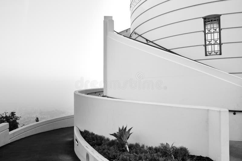 Particolare architettonico dell'osservatorio del Griffith, L.A. immagine stock