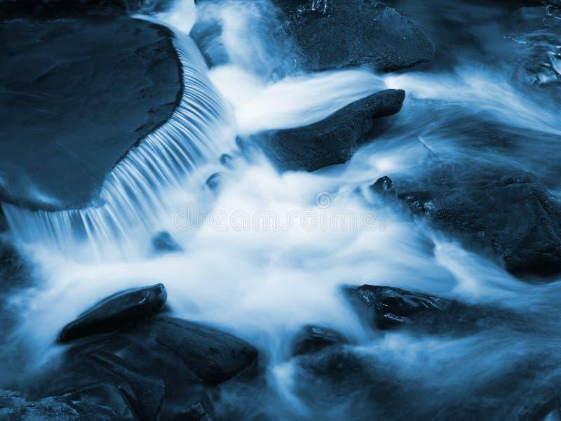 Particolare blu di scorrimento dell'acqua fotografie stock