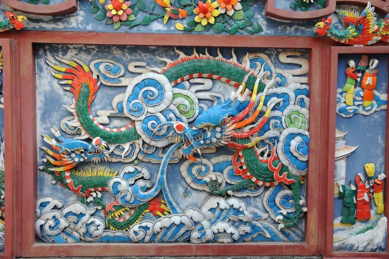 Particolare cinese della parete del tempiale immagine stock