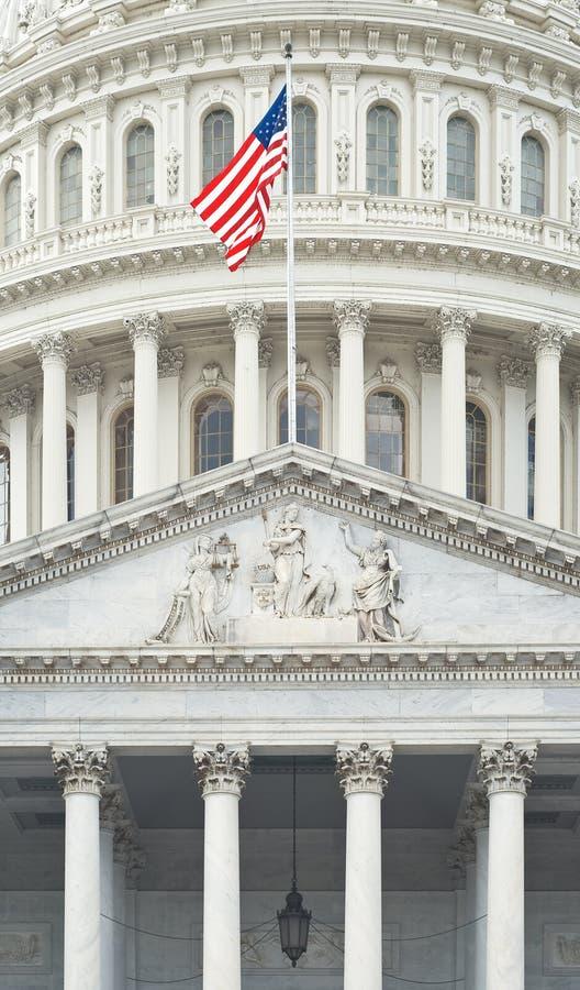 Particolare degli Stati Uniti Campidoglio fotografie stock libere da diritti
