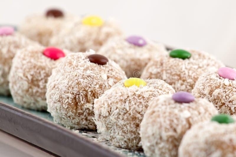 Particolare dei biscotti della noce di cocco fotografia stock