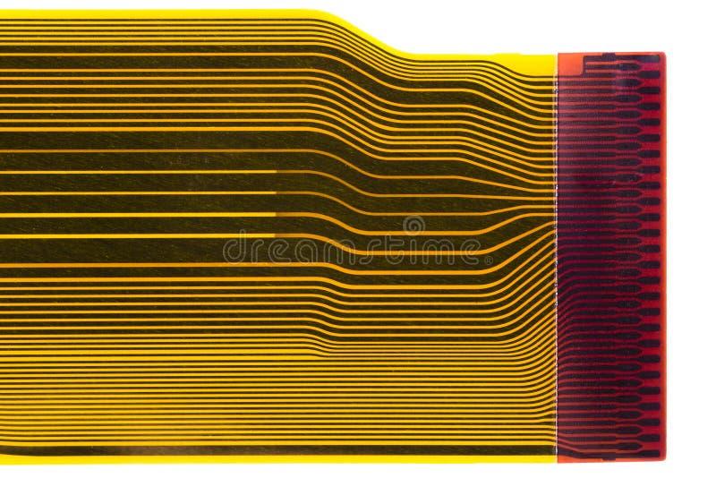 Particolare del circuito stampato flesso (FPC) fotografia stock libera da diritti