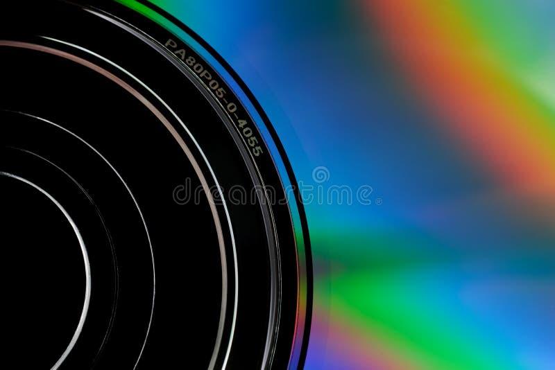 Particolare del disco CD immagine stock