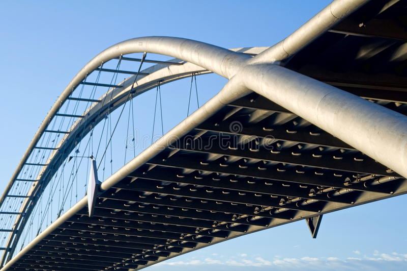 Particolare del ponte sospeso fotografia stock