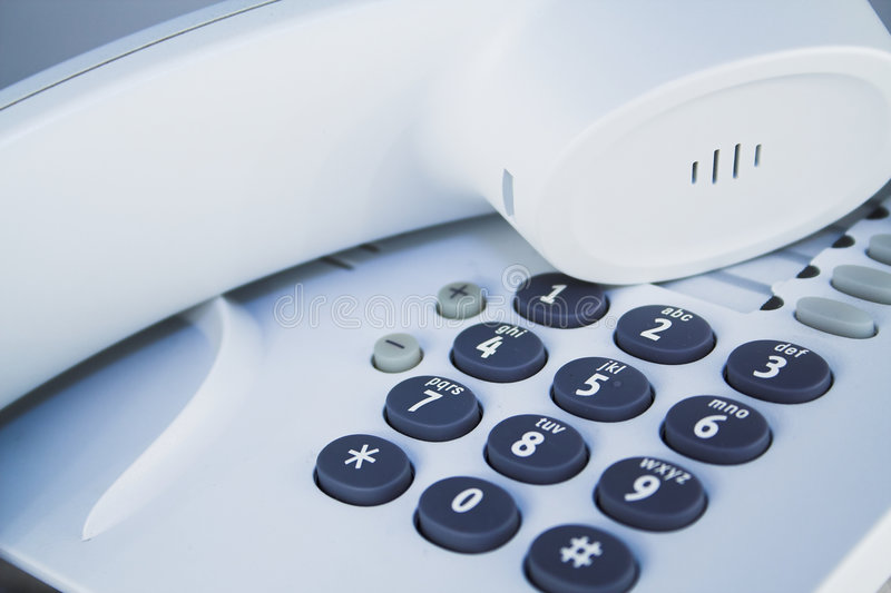 Particolare del telefono dell'ufficio immagine stock libera da diritti