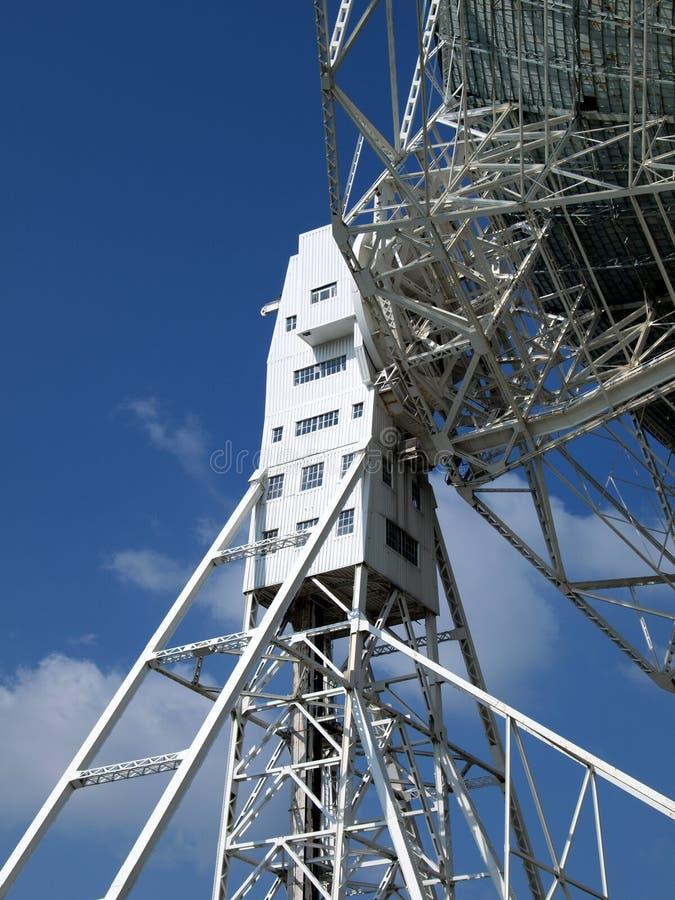 Particolare del telescopio radiofonico di Lovel fotografia stock libera da diritti
