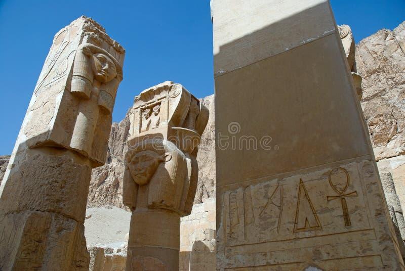 Particolare del tempiale di Hatshepsut, Egitto fotografia stock