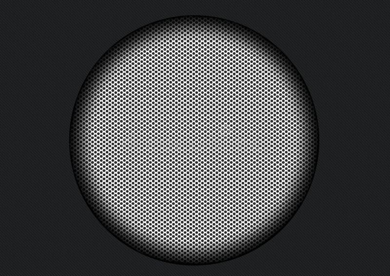 Particolare dell'altoparlante del carbonio fotografia stock libera da diritti