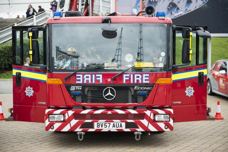 Particolare dell'autopompa antincendio britannica fotografie stock