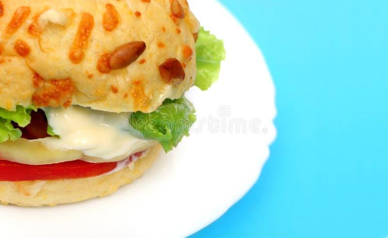 Particolare dell'hamburger del Veggie immagini stock