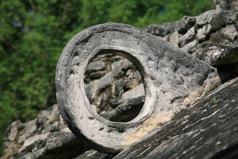 Particolare dell'iarda del gioco di sfera del Maya fotografia stock