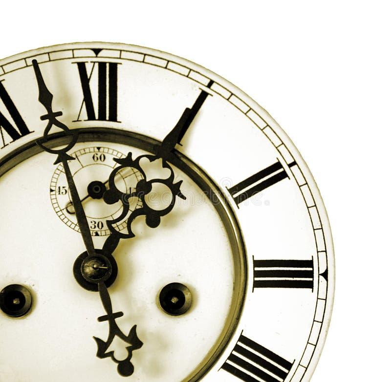 Particolare dell'un vecchio orologio fotografia stock libera da diritti