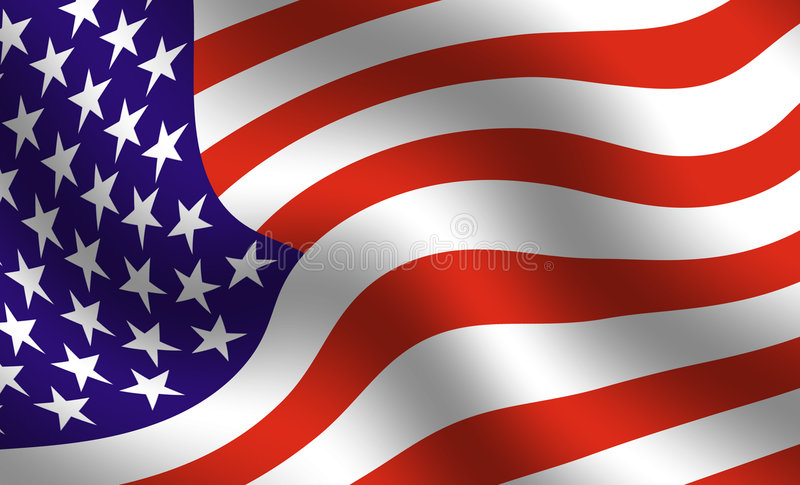 Particolare della bandiera americana illustrazione vettoriale