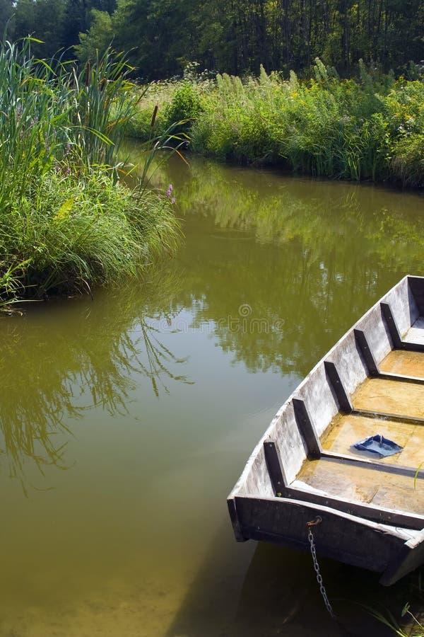 Download Particolare Della Barca In Stagno Immagine Stock - Immagine di canna, galleggiante: 3138893