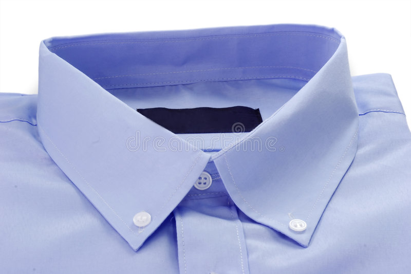 Particolare della camicia blu fotografie stock libere da diritti