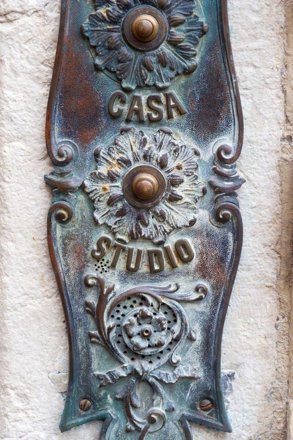 Particolare della casa da Venezia fotografia stock