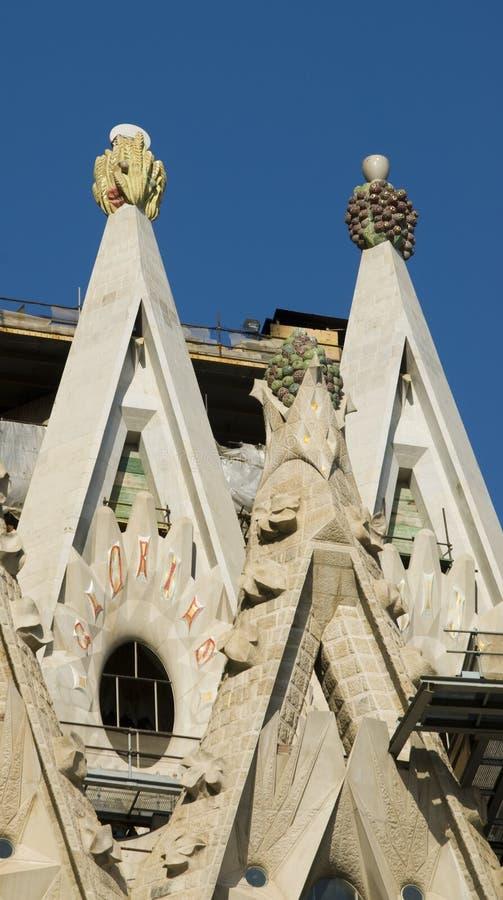 Particolare della cattedrale del Gaudi fotografia stock libera da diritti