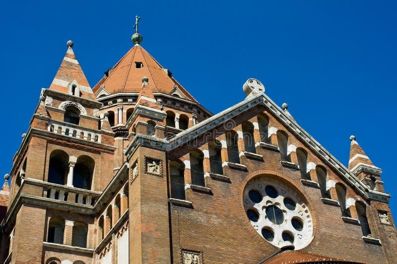 Particolare della cattedrale in Szeged, Ungheria fotografie stock