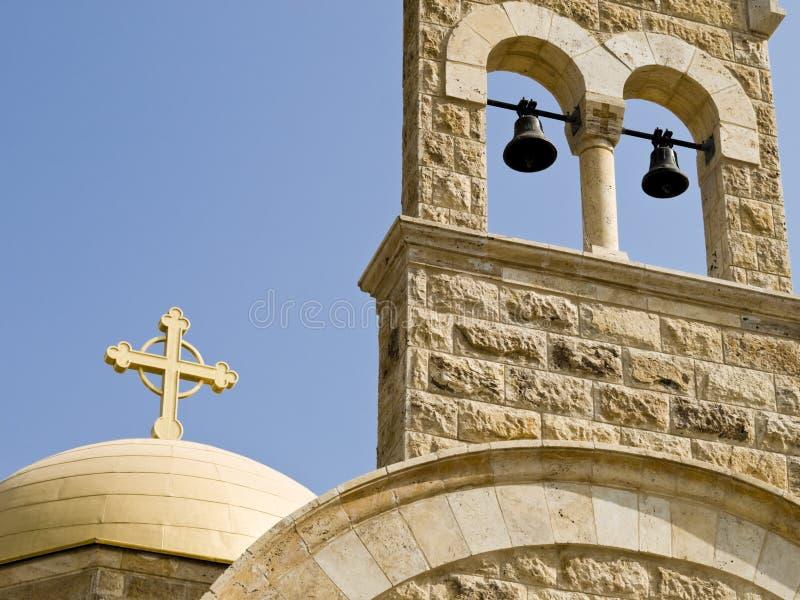 Particolare della chiesa in Bethany, Jord fotografie stock libere da diritti