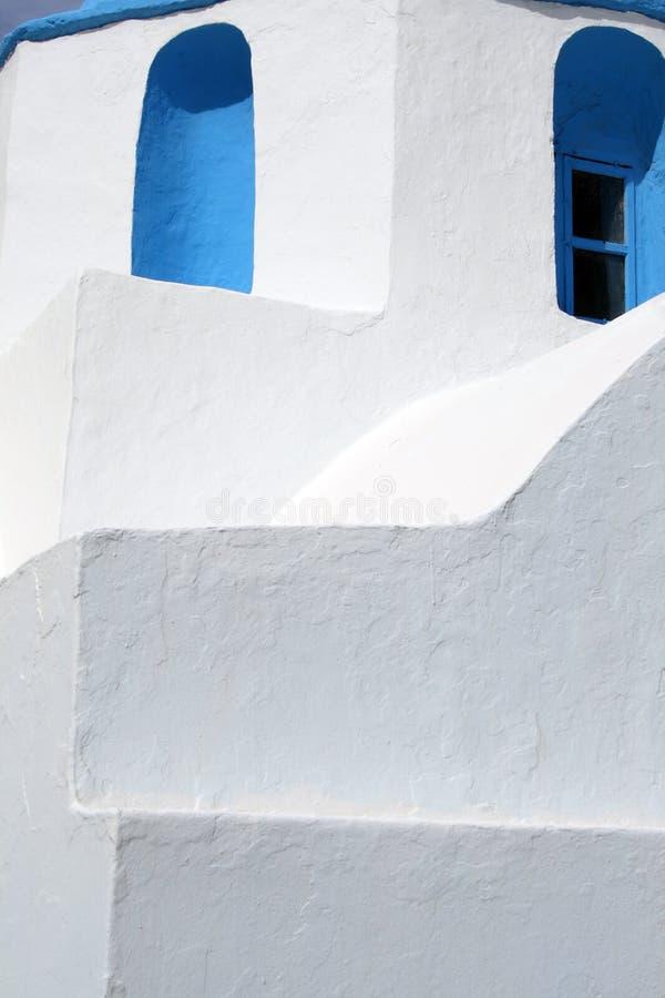 Particolare della chiesa - Paros, Grecia immagine stock
