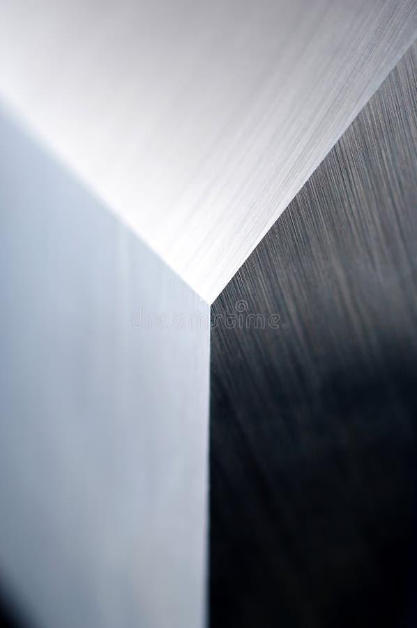 Particolare della lama industriale marcata fotografie stock