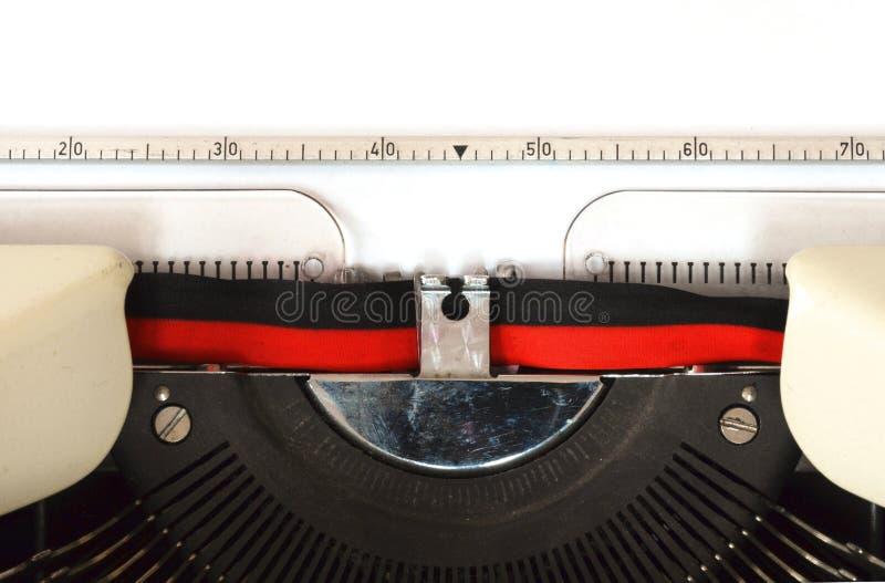 Particolare della macchina da scrivere fotografia stock