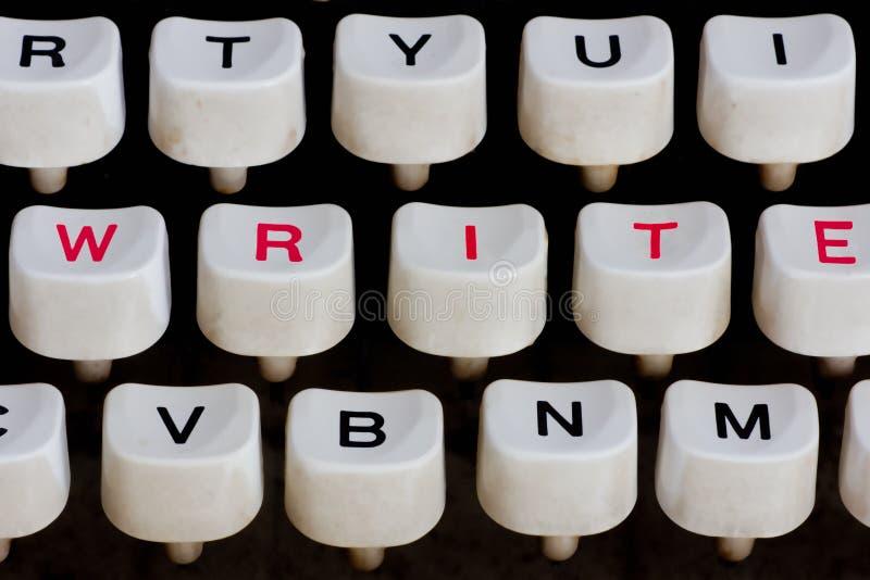 Particolare della macchina da scrivere fotografia stock libera da diritti