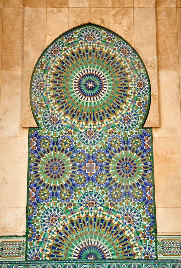 Particolare della moschea del Hassan II a Casablanca fotografia stock libera da diritti