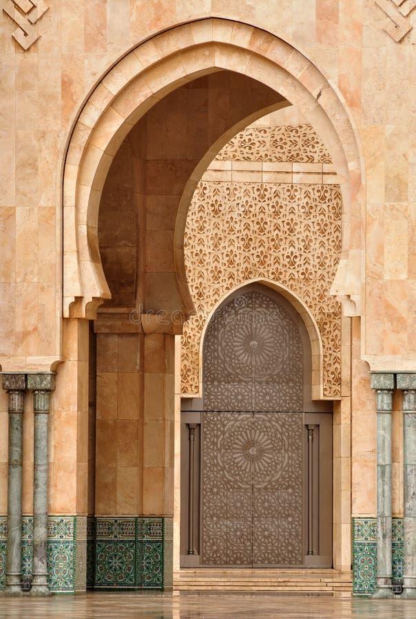 Particolare della moschea del Hassan II a Casablanca immagini stock