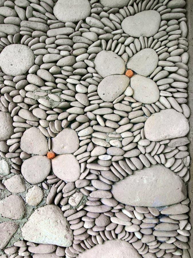 Particolare della parete del ciottolo, Bali immagine stock libera da diritti