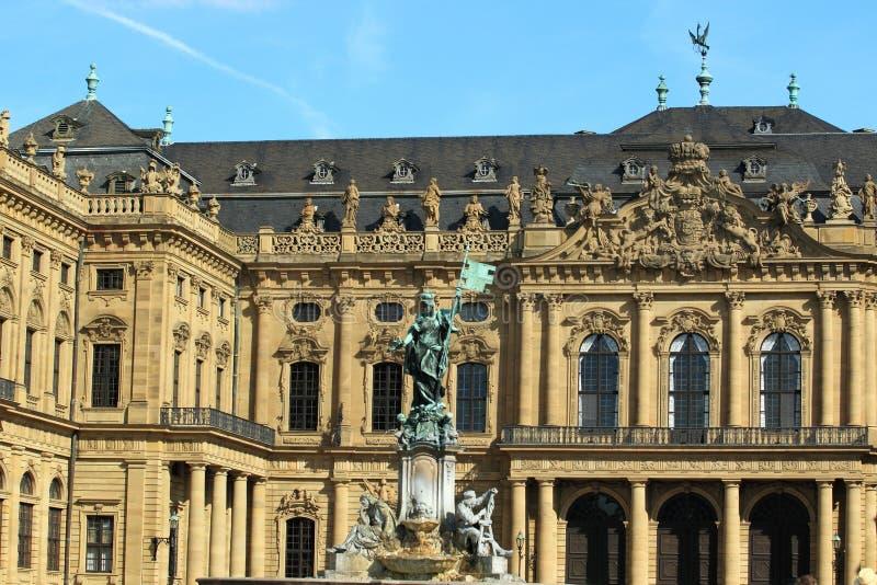 Particolare della residenza di Wurzburg. fotografia stock