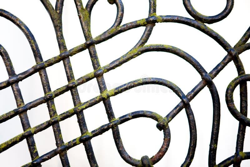 Particolare della rete fissa del ferro saldato fotografia stock libera da diritti