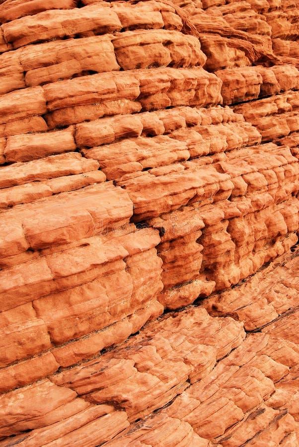 Particolare della roccia dell'alveare nella valle di fuoco fotografie stock libere da diritti