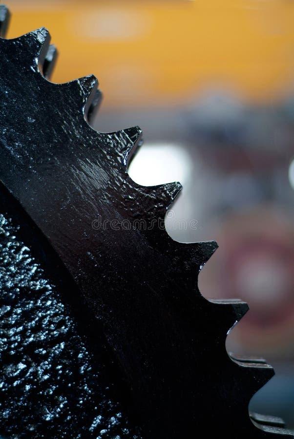 Particolare della rotella dentata fotografie stock libere da diritti
