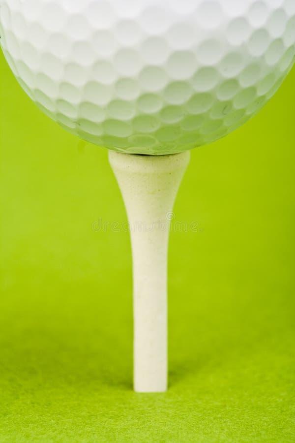 Particolare della sfera di golf fotografia stock libera da diritti