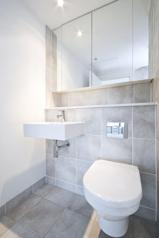 Particolare della stanza da bagno con la toletta ed il lavabo fotografie stock