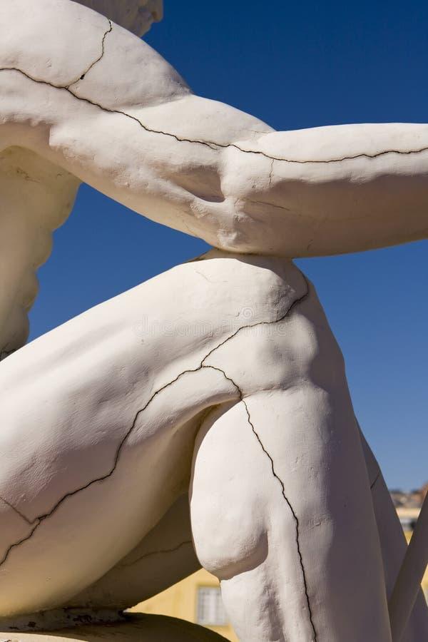 Particolare della statua con le crepe fotografia stock libera da diritti