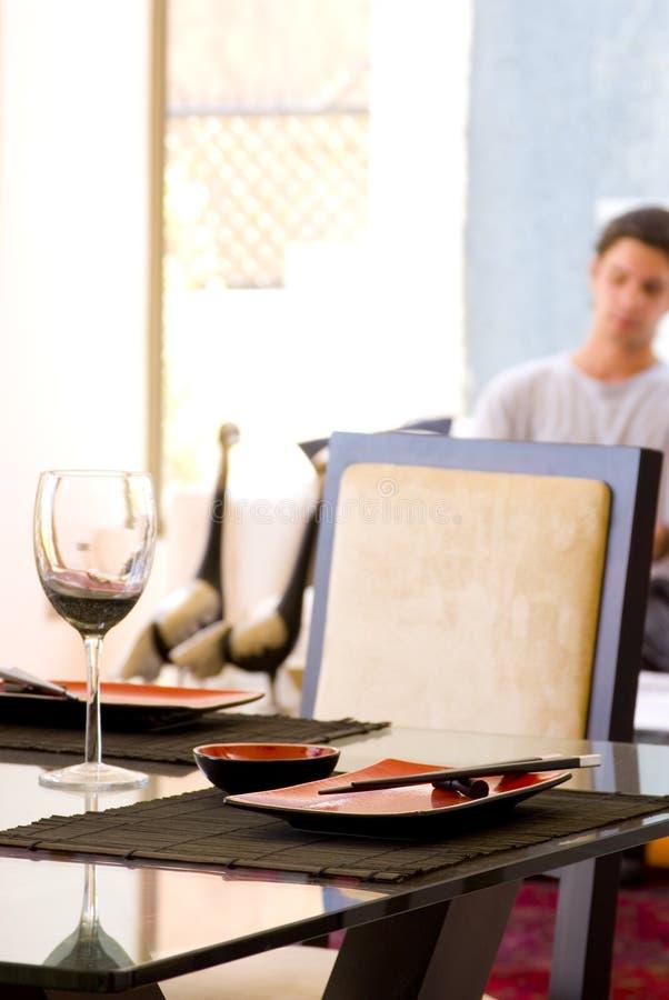 Particolare della tabella di Dinning fotografia stock libera da diritti