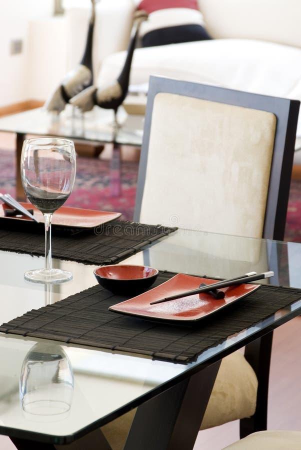 Particolare della tabella di Dinning immagine stock libera da diritti