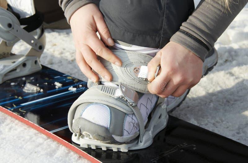 Particolare dello Snowboard fotografia stock