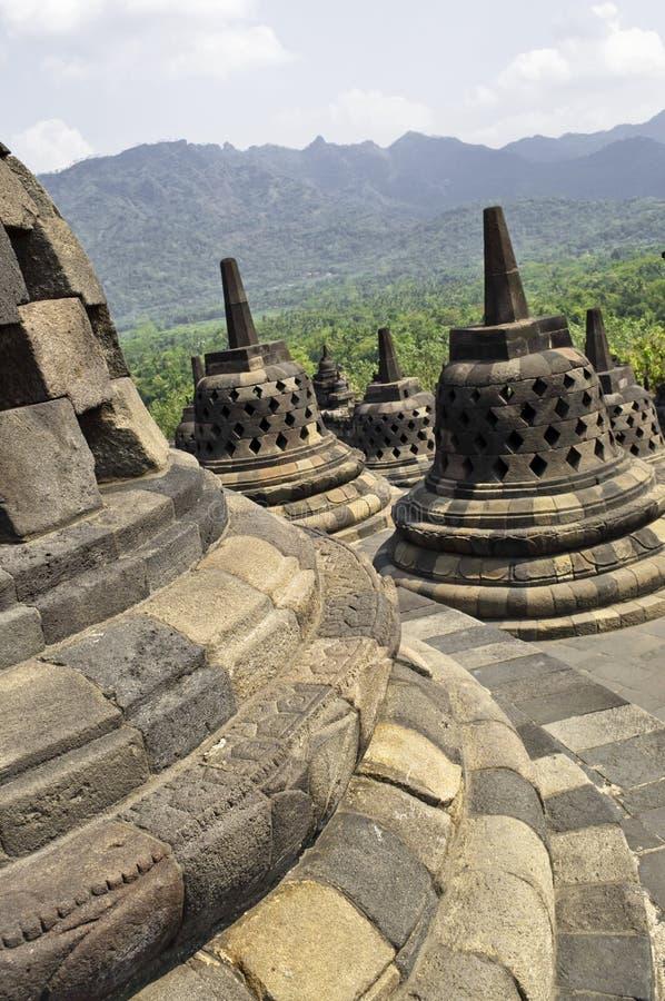 Particolare di Borobudur fotografie stock