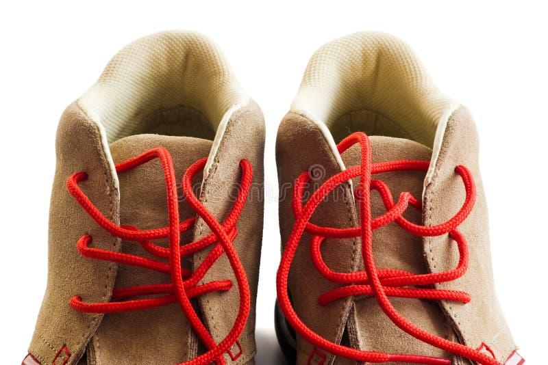 Particolare di calzature fotografia stock