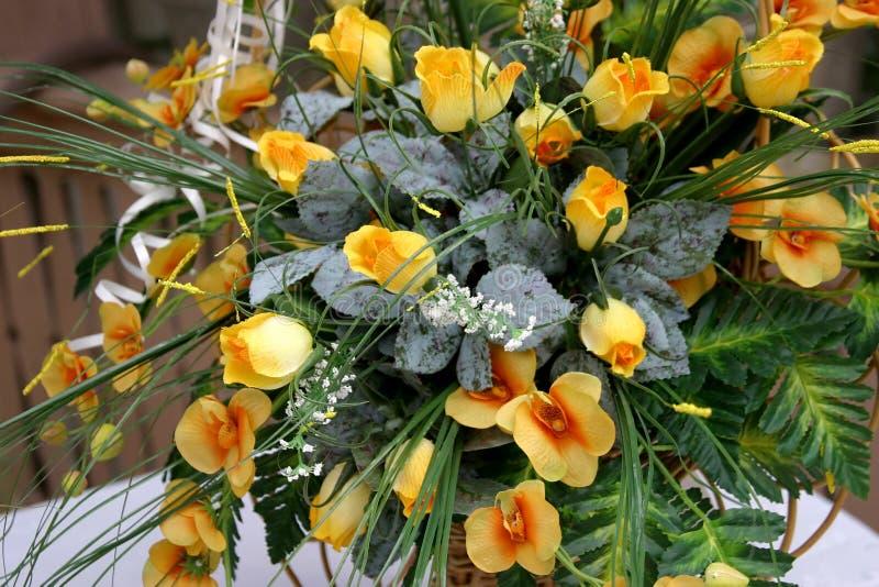 Particolare di cerimonia nuziale - fiori immagine stock libera da diritti