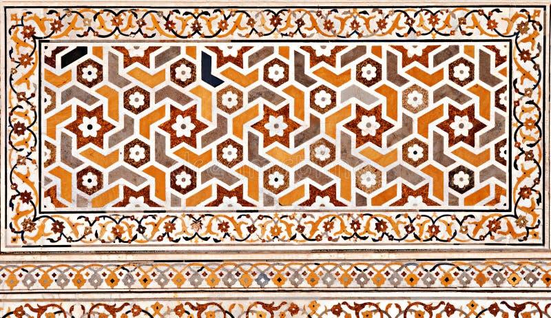 Particolare di decorazione del Taj Mahal fotografie stock