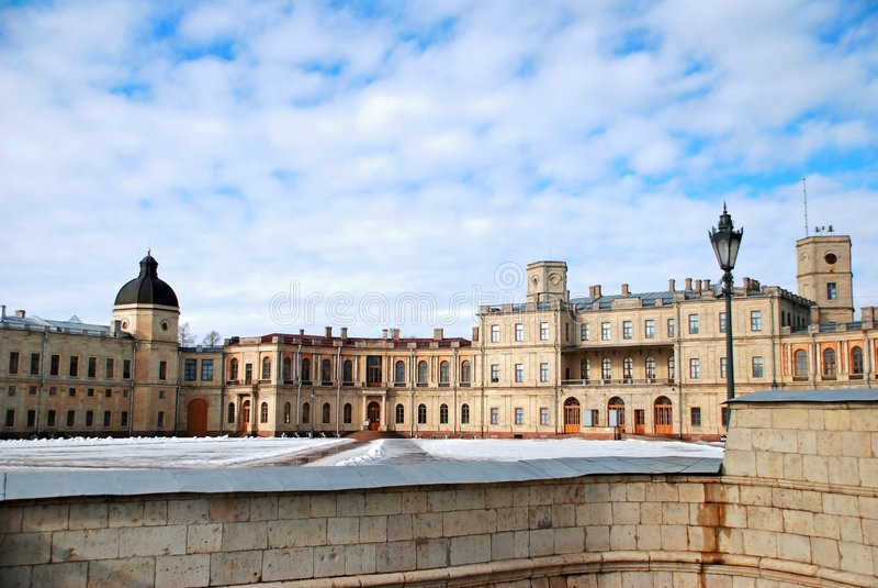 Particolare di maggior palazzo di Gatchina fotografia stock libera da diritti